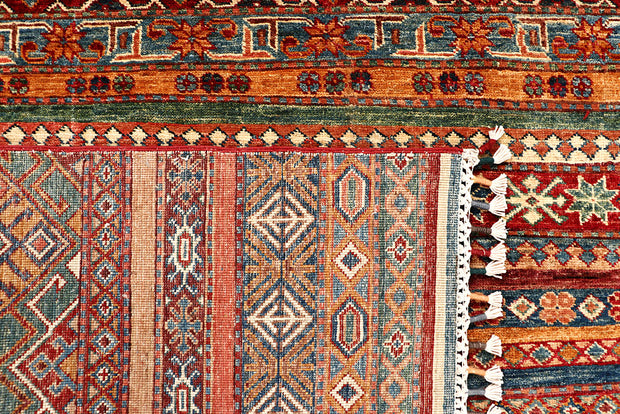 Multi Colored Kazak 5' 7 x 8' 2 - No. 68120 SQM:4.24