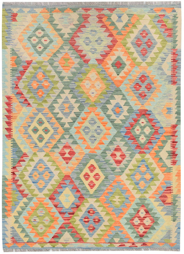 Multi Colored Kilim 4' 1 x 5' 9 - No. 68173 - Alrug Rug Store