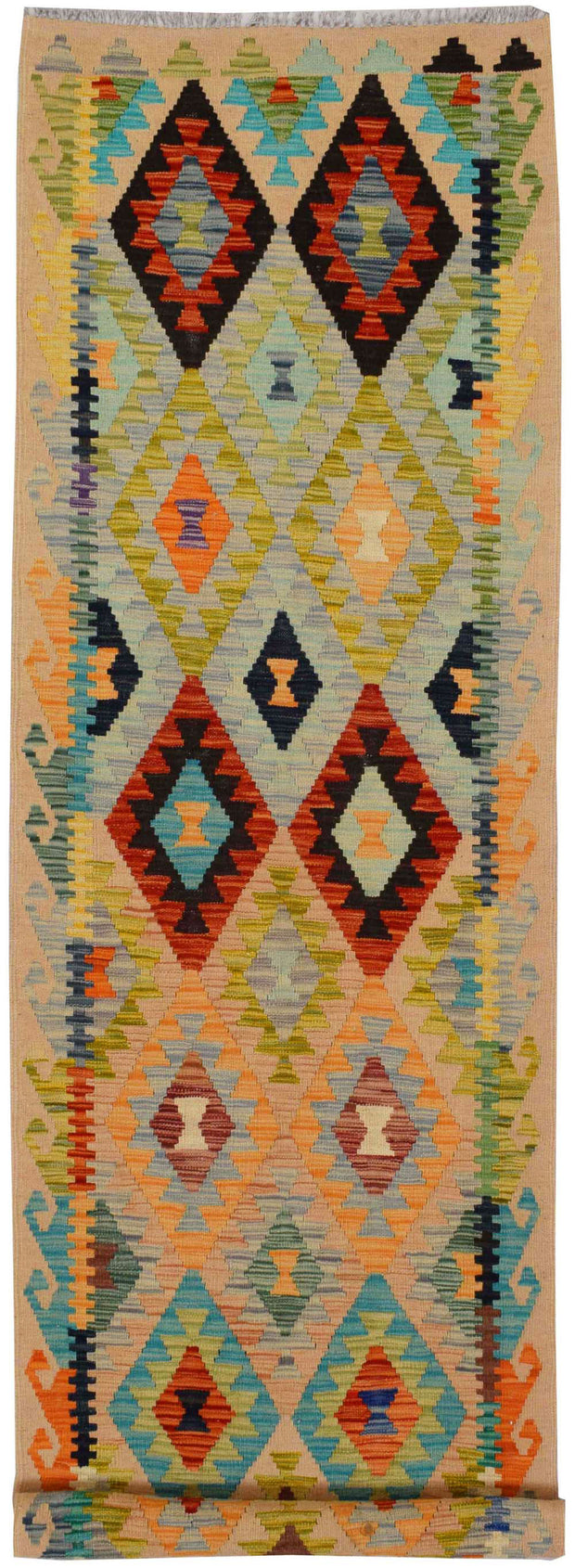 Multi Colored Kilim 2' 9 x 9' 7 - No. 68183 - ALRUG Rug Store