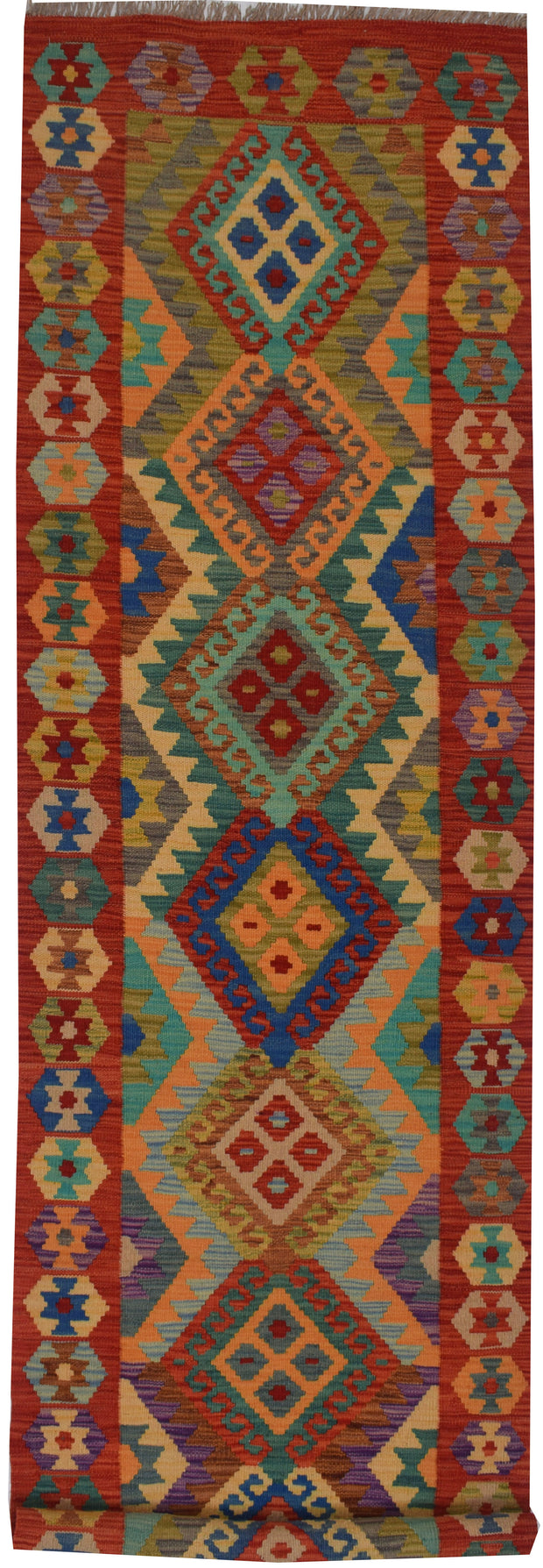 Multi Colored Kilim 2' 7 x 9' 6 - No. 68184 - ALRUG Rug Store