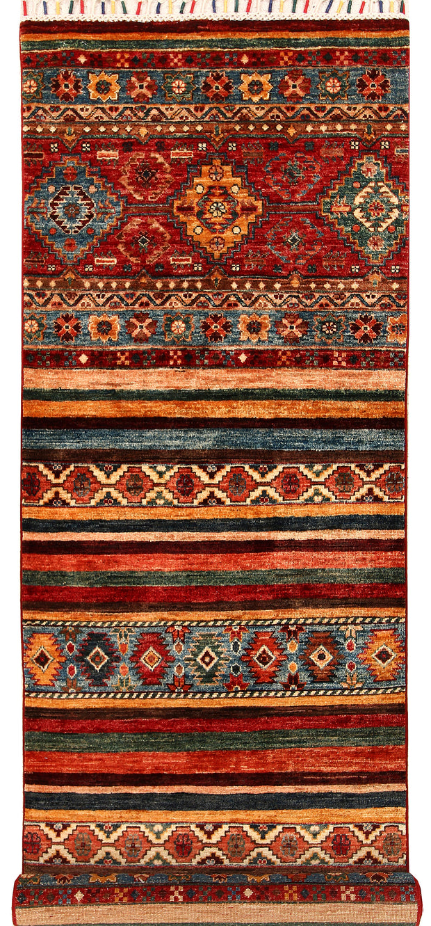 Multi Colored Kazak 2' 7 x 9' - No. 68202 - ALRUG Rug Store