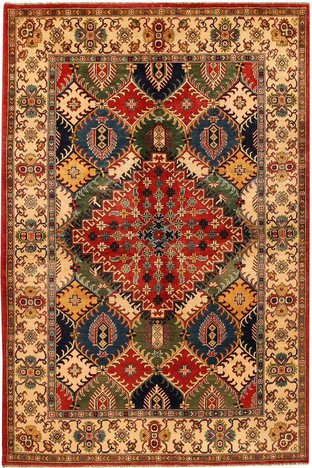 Multi Colored Kazak 6' 5 x 9' 9 - No. 68237