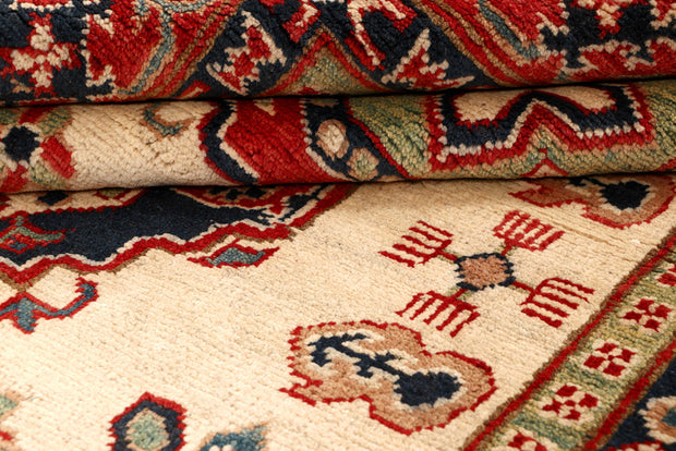 Blanched Almond Kazak 5' 1 x 7' - No. 68274 - ALRUG Rug Store