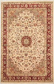 Blanched Almond Kashan 5' 9 x 8' 10 - No. 68353 - ALRUG Rug Store