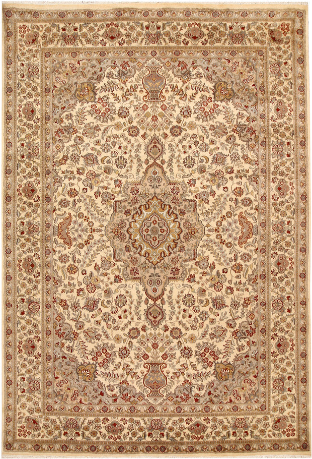 Blanched Almond Isfahan 5' 7 x 8' 2 - No. 68375 - ALRUG Rug Store