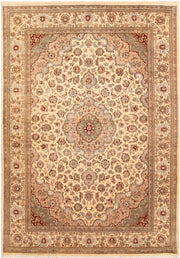Blanched Almond Isfahan 5' 6 x 8' 2 - No. 68385 - ALRUG Rug Store