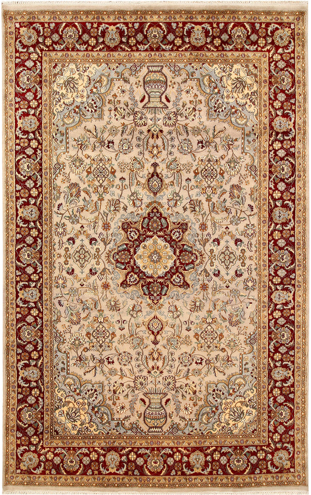 Antique White Isfahan 5' 10 x 9' 4 - No. 68387 - ALRUG Rug Store