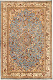 Light Slate Grey Kashan 6' x 9' 1 - No. 68392 - ALRUG Rug Store