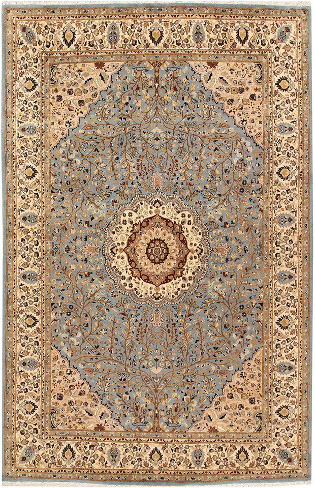 Light Slate Grey Tree of Life 6' 1 x 9' 5 - No. 68400 - ALRUG Rug Store