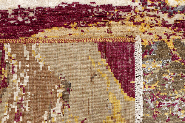 Multi Colored Abstract 4' 1 x 6' - No. 68686 - ALRUG Rug Store