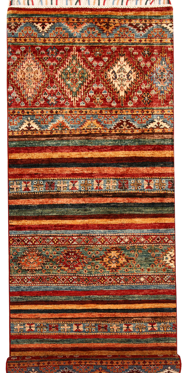 Multi Colored Kazak 2' 9 x 8' - No. 68709 - ALRUG Rug Store