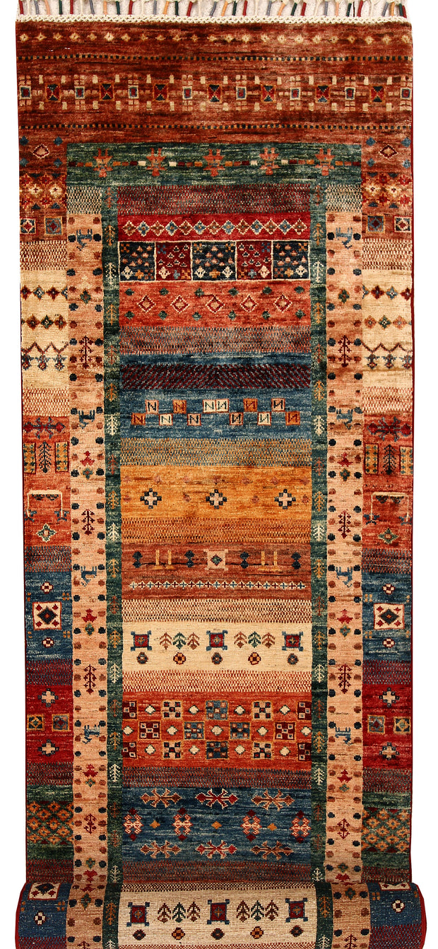 Multi Colored Kazak 2' 7 x 10' 8 - No. 68710