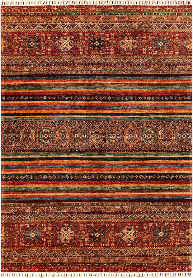 Multi Colored Kazak 5' 11 x 8' 2 - No. 68716 - ALRUG Rug Store