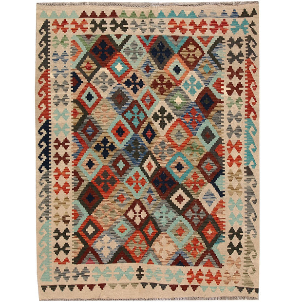 Vegetable Kilim 5' 7 x 7' 4 (ft) - No. AL58805 - ALRUG Rug Store