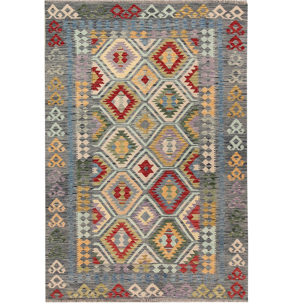 Vegetable Kilim 5' 5 x 7' 7 (ft) - No. AL34934 - ALRUG Rug Store