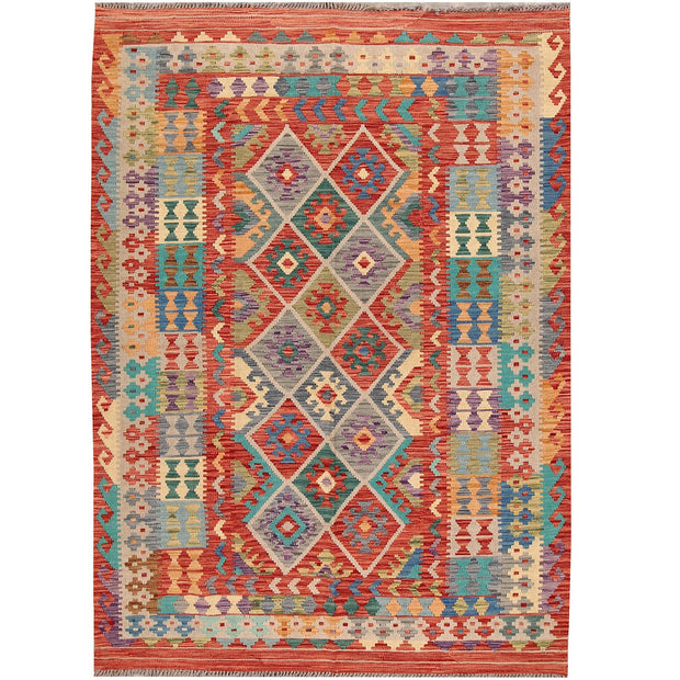 Vegetable Kilim 5' 5 x 7' 6 (ft) - No. AL85293 - ALRUG Rug Store