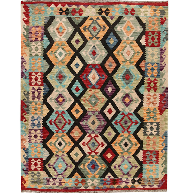 "Vegetable Kilim 4' 9""  x 6' 3"" (ft) - No. AL85560 - ALRUG Rug Store"