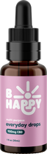 Load image into Gallery viewer, B Happy Everyday Drops  - 900mg Hemp-Derived CBD