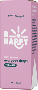 Everyday Drops - 900mg Broad-Spectrum Hemp-Derived CBD - unflavored