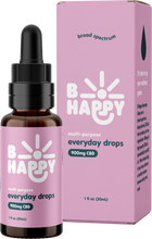 Load image into Gallery viewer, Everyday Drops - 900mg Broad-Spectrum Hemp-Derived CBD - unflavored