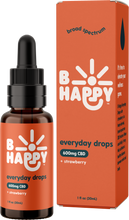 Load image into Gallery viewer, B Happy Everyday Strawberry Drops - 600mg Hemp-Derived CBD