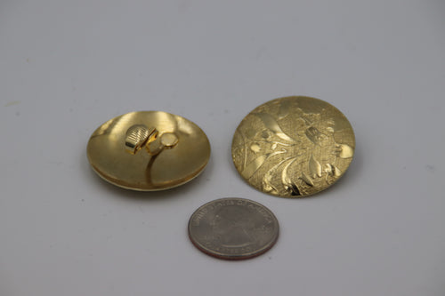 Gold Floral Etched