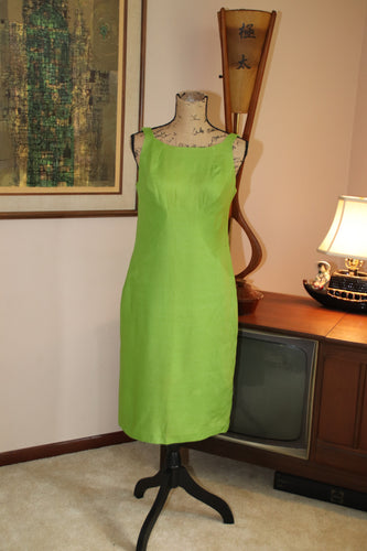 Green 60's Shift Dress