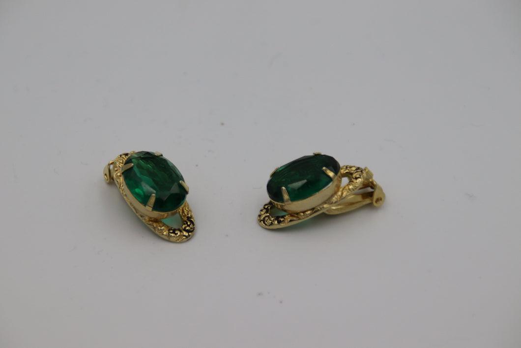 Green Stone with Gold