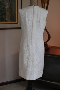 Ivory Brocade Sheath Dress