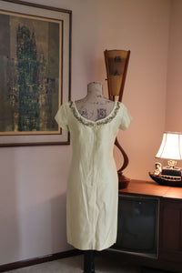 60's Yellow Raw Silk Evening Suit