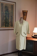 Load image into Gallery viewer, 60's Yellow Raw Silk Evening Suit