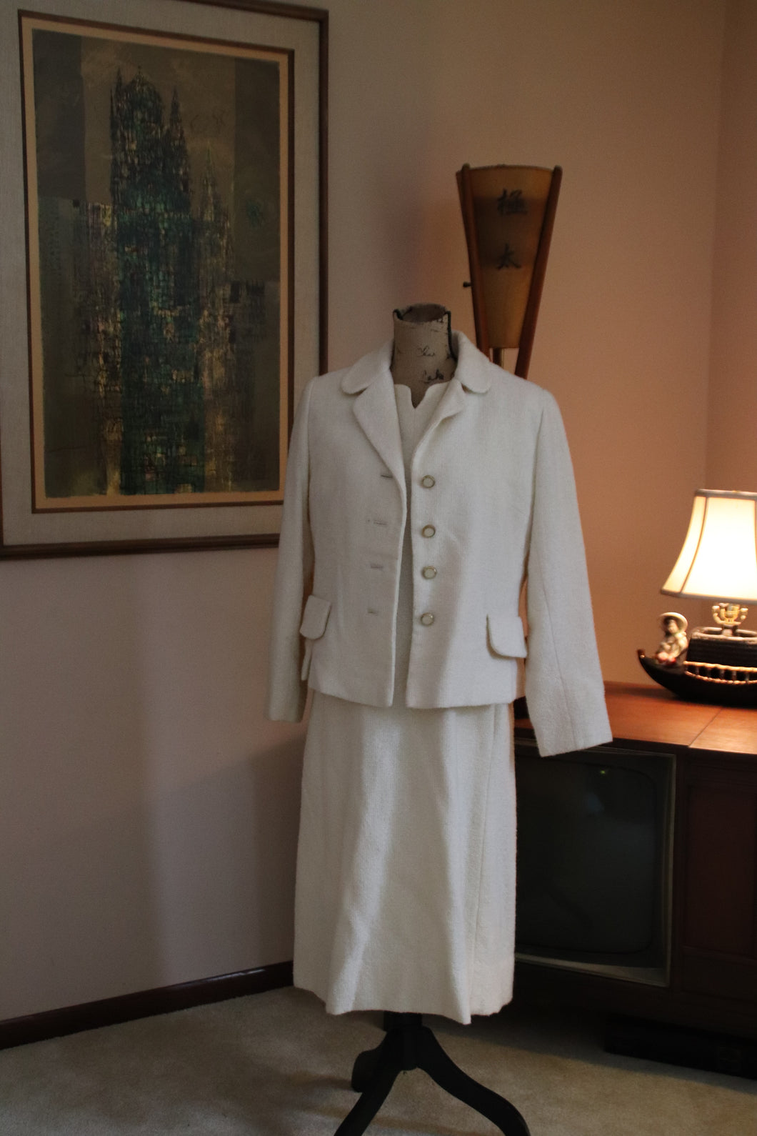 Ivory Winter Suit