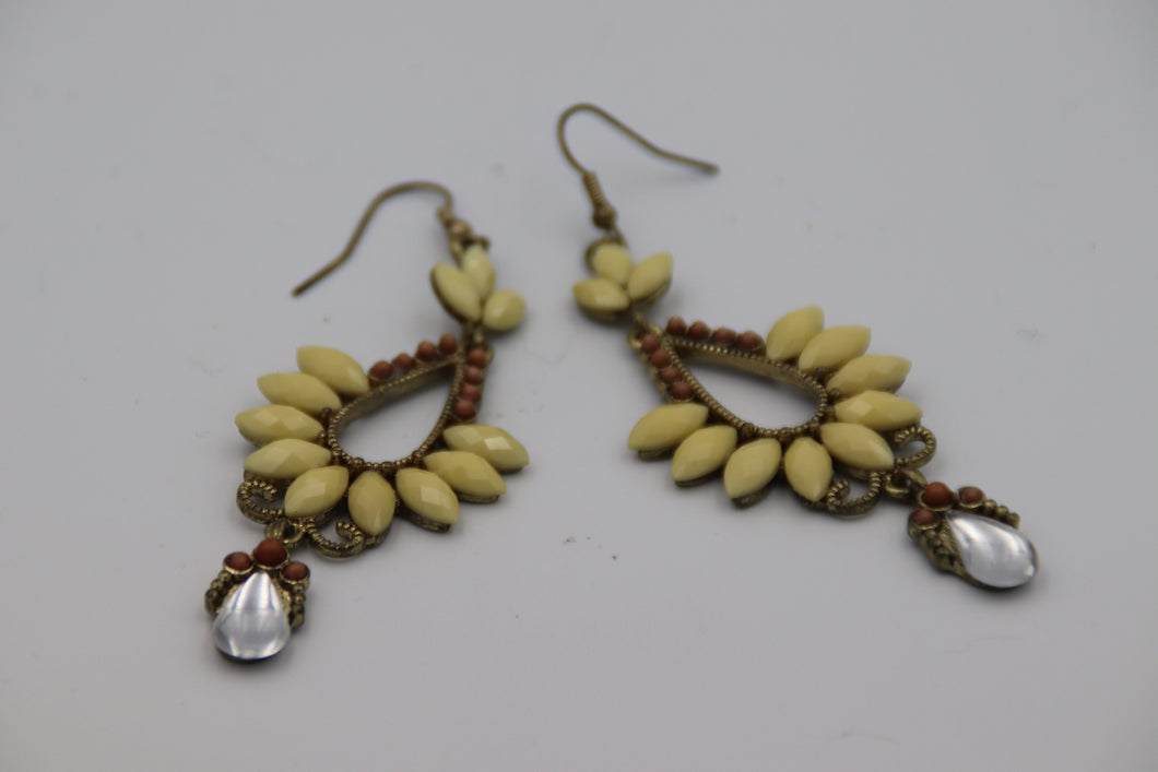 Cream Dangle Earrings