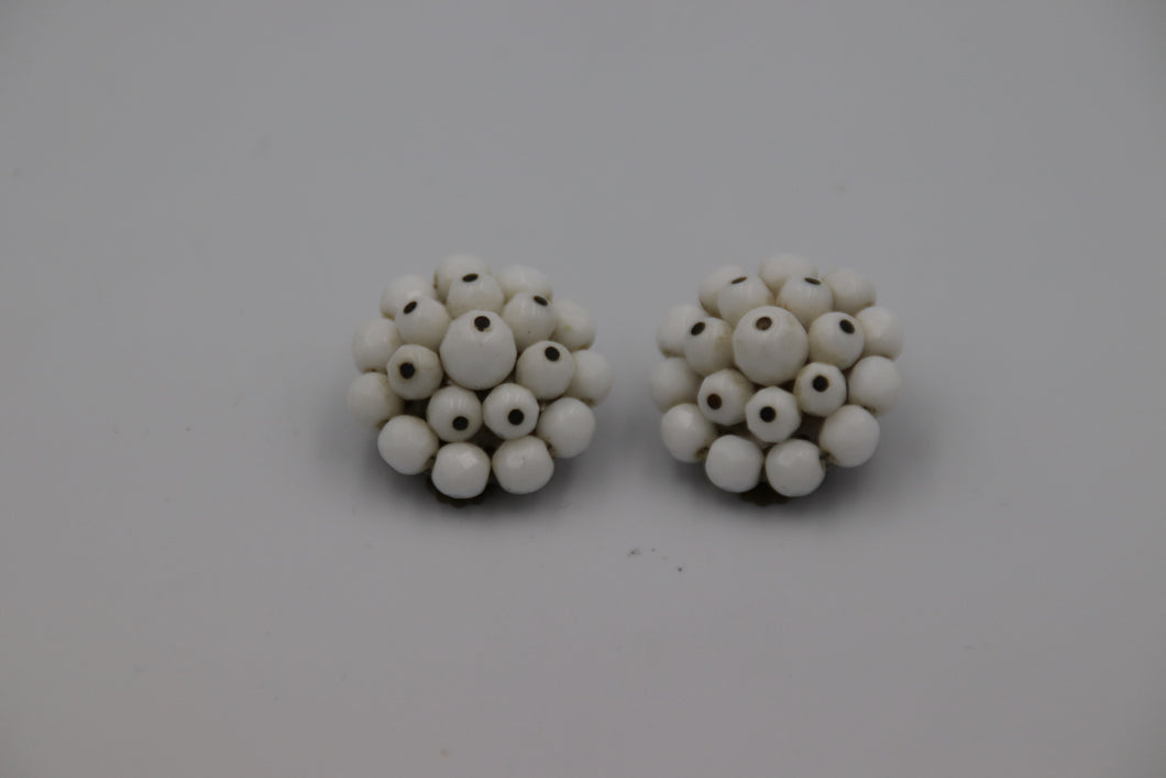 White Milk Glass Bead Cluster