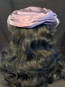 Purple Satin Hat