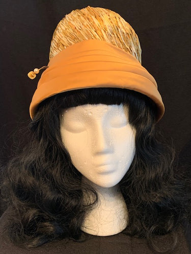 Gold Straw with Satin Brim