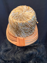 Load image into Gallery viewer, Gold Straw with Satin Brim