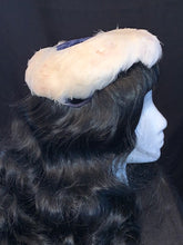 Load image into Gallery viewer, Navy Velvet & White Feathers