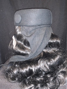 Black Winter Felt Hat