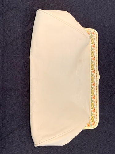 Faux Leather Ivory Purse