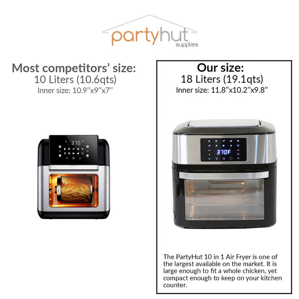 PartyHut 10 in 1 | 18 Liter Convection Air Fryer Oven Dehydrator (CL_PTH504201) - Alt Image 3