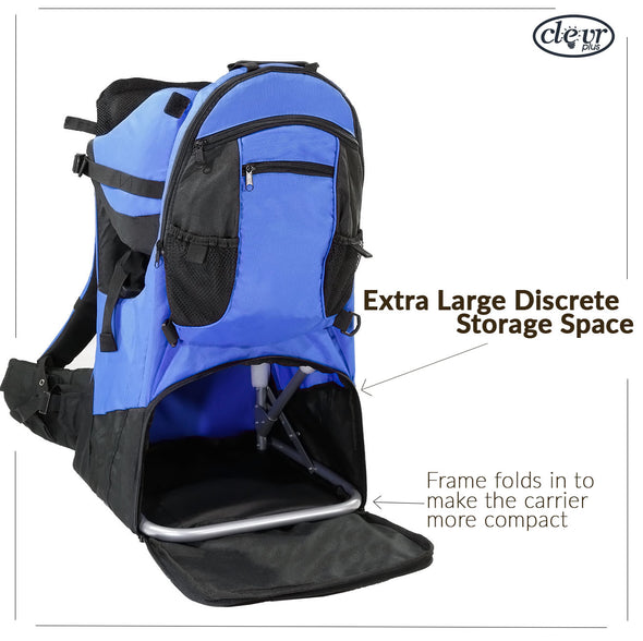 ClevrPlus Deluxe Lightweight Baby Backpack Child Carrier, Blue (CL_CRS600221) - Alt Image 5