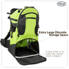 ClevrPlus Deluxe Lightweight Baby Backpack Child Carrier, Green (CL_CRS600204) - Alt Image 3