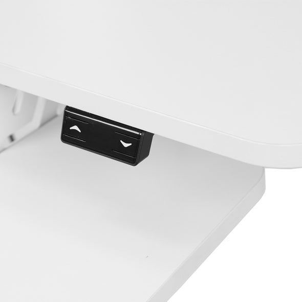 AdvanceUp Electric Automatic Standing Desk Converter Riser with Dual Monitor Mount, White (CL_ADV503606) - Alt Image 4