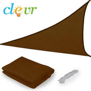 [product_tag] , Clevr 12'x12'x12' Triangle Brown Outdoor Sun Shade Sail Canopy - Crosslinks