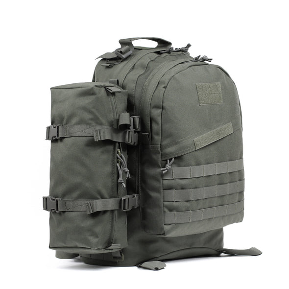 Qwest 42L Outdoor Tactical Military Style Gear Pack Backpack + Bonus 10 L Bag, Drab Green (CL_CRS806006) - Alt Image 6