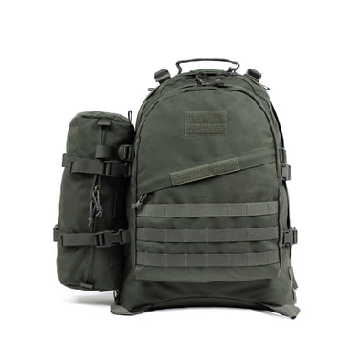 [product_tag] , Qwest 42L Outdoor Tactical Military Style Gear Pack Backpack + Bonus 10 L Bag, Drab Green - Crosslinks