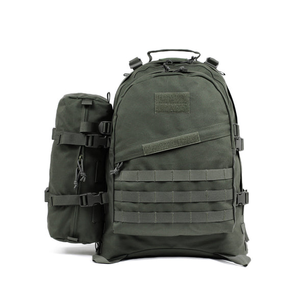 Qwest 42L Outdoor Tactical Military Style Gear Pack Backpack + Bonus 10 L Bag, Drab Green (CL_CRS806006) - Main Image