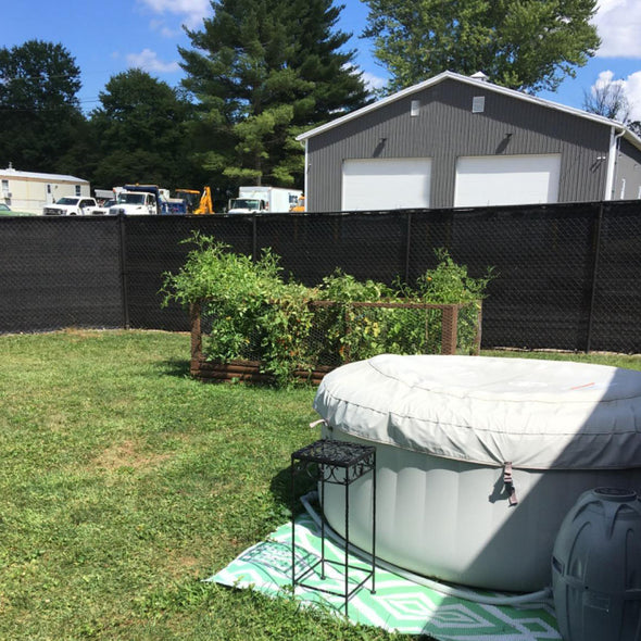 Home Aesthetics 6' x 50' Fence Windscreen Privacy Screen Cover, Black Mesh (CL_HOM200703) - Alt Image 2