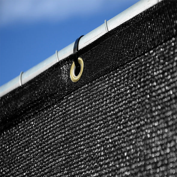 Home Aesthetics 6' x 50' Fence Windscreen Privacy Screen Cover, Black Mesh (CL_HOM200703) - Alt Image 3